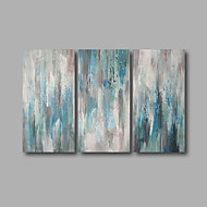Stretched (Ready to hang) Hand-Painted Oil Painting 120cmx80cm Canvas Wall Art Modern Blue Grey