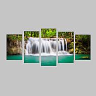 Estampados Fotográfico Conjuntos de Lona Tela de impressão Paisagem Fotografia Realismo Viagem Lazer Botânico 5 Painéis Horizontal
