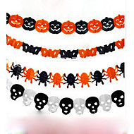papier keten guirlande decoratie pompoen vleermuis ghost spin vorm van de schedel halloween decor slinger