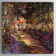 cheap Oil Paintings-Hand-Painted Landscape Square, Modern Canvas Oil Painting Home Decoration One Panel
