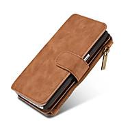 Para Samsung Galaxy Capinhas Carteira / Porta-Cartão / Com Suporte / Flip / Magnética Capinha Corpo Inteiro Capinha Cor Única RígidaCouro