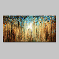 Hand Painted Abstract Landscape Floral Botanical Horizontal Modern Canvas Oil Painting Home Decoration One Panel