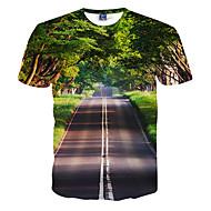Χαμηλού Κόστους -Ανδρικά T-shirt Αθλητικά Σαββατοκύριακο Λεπτό Στάμπα