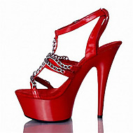 Women's Heels Summer / Fall Heels / Platform / Sandals Patent Leather / Customized Materials Party & Evening / Dress