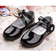 cheap Girls' Shoes-Girls' Shoes Patent Leather Spring & Summer Mary Jane Flats Walking Shoes Sparkling Glitter for Dress White Black Red