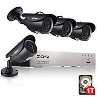 1TB ile zosi®4ch ahd dvr 720p ir su geçirmez CCTV kamera ev güvenlik gözetim kitleri