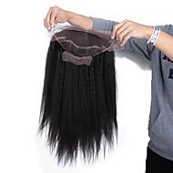 Ekte hår Helblonder uten lim Helblonde Parykk stil Brasiliansk hår Rett Kinky Glatt Parykk 130% 150% Hair Tetthet 14-18 tommers med baby hår Naturlig hårlinje Afroamerikansk parykk 100 % håndknyttet