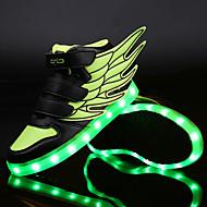 Unissex-Tênis-Inovador Light Up Shoes-Rasteiro-Verde Branco Fúcsia-Sintético Couro Ecológico-Ar-Livre Casual