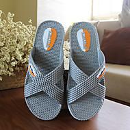 baratos Super Ofertas-Unisexo Sapatos PVC Primavera / Verão / Outono Conforto Chinelos e flip-flops Sem Salto Cinzento / Azul