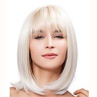 Kvinder Syntetiske parykker Glat Sølv Bob frisure Med bangs / pandehår Naturlig paryk kostume Parykker