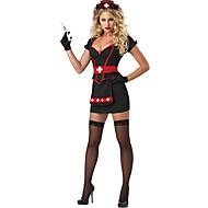 Nurses תחפושות קוספליי תחפושת למסיבה בגדי ריקוד נשים האלווין (ליל כל הקדושים) פסטיבל / חג תחפושות ליל כל הקדושים תלבושות שחור טלאים