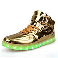 baratos Sapatos Masculinos-Homens Couro Envernizado Primavera / Outono Conforto Rasos Antiderrapante Prata / Vermelho / Dourado