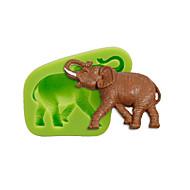 Animal elefante silicone moldes bolo decoração sugarcraft ferramentas polímero argila fimo fondant fazendo cor aleatória