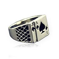 Herr Statement Ring Signetring Personlig Vintage Mode Moderingar Smycken Silver Till Julklappar Dagligen Casual 8 / 9 / 10 / 11 / 12