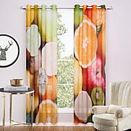 billige Gardiner ogdraperinger-Propp Topp To paneler Window Treatment Moderne , Trykk Nyhet Stue Polyester Materiale Gardiner Skygge Hjem Dekor