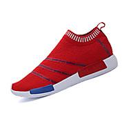 Unissex-TênisRasteiro-Preto Azul Vermelho-Tecido-Casual