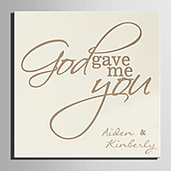 E-HOME® Personalized Signature Canvas invisible Frame Print-God Gave Me You