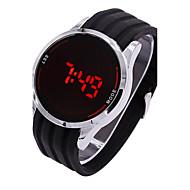 billige Quartz-Herre Digital Digital Watch / Sportsur Silikone Bånd Vedhæng Sort