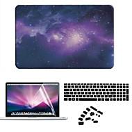 tanie Akcesoria do MacBooka-MacBook Futerał na Futerały pełne Sky Rysunek Plastikowy MacBook Air 11 cali MacBook Pro 15 cali z wyświetlaczem Retina MacBook Pro 13-