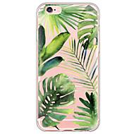 Para iPhone X iPhone 8 iPhone 6 iPhone 6 Plus Case Tampa Ultra-Fina Translúcido Capa Traseira Capinha Árvore Macia PUT para Apple iPhone