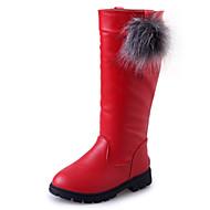 billige High-tops til børn-Pige Sko PU Vinter Modestøvler Støvler Gang for Afslappet udendørs Sort Rød Bourgogne