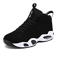 Women's Sneakers Spring / Summer / Fall Leather Casual Flat Heel Black / Black and Red / Black and White Basketball