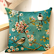 cheap Pillow Covers-1 pcs Cotton / Linen Sofa Cushion / Body Pillow, Floral Traditional / Classic