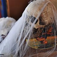 populares de plástico engraçado algodão teia de aranha para Halloween partido decoração adereços de cena bar