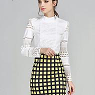 Dame - Ensfarvet Plusstørrelser Bluse