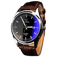 YAZOLE Homens Quartzo Relógio de Pulso / Relógio Casual PU Banda Casual Legal Marrom
