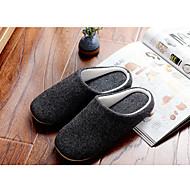Miehet kengät Puuvilla Kevät Syksy Talvi Comfort Tossut & varvastossut Käyttötarkoitus Kausaliteetti Musta