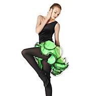 billige Udsalg-Latin Dans Kjoler & Nederdele Dame Træning Ydeevne Pandekage Fløjl Viskose Krøllede Folder Uden ærmer Kjole