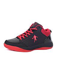 Herren Schuhe PU Frühling Herbst Komfort Sportschuhe Basketball Schnürsenkel für Purpur Weiß und Blau Schwarz/Rot Schwarz und Blau