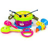 Brinquedos Musicais Instrumentos de brinquedo Bels de mão Alto-Falante Brinquedo Educativo Brinquedos Bateria 5 Peças Aniversário Dia da