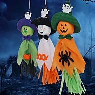 3pcs fantasmas guirlandas bunting decorações do dia das bruxas fantasmas pano cordas adereços Photo Wall festival decor