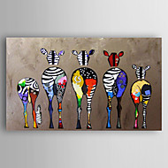 cheap Oil Paintings-Oil Painting Hand Painted - Animals Modern Canvas