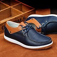 お買い得  紳士靴-男性用 靴 レザー 春 / 秋 コンフォートシューズ オックスフォードシューズ ホワイト / ブルー / 革靴