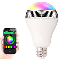 cheap LED Bulbs-1pcs E27 Bluetooth Control Smart Music Audio Speaker LED RGB Color Bulb Light Lamps(AC85-265V)