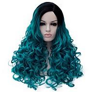Femme Perruque Synthétique Sans bonnet Mi Longue Bleu Perruques sans bonnet Perruque Halloween Perruque de carnaval Perruque Déguisement