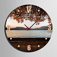 1Pcs Creative Modern E-Home® Lake Scenery Clock In Analog Canvas