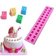 1 Cozimento 3D / Alta qualidade / Anti-Aderente / Ecológico / Bricolage / Ferramenta bakingGelo / Pão / Bolo / Biscoito / Cupcake / Torta