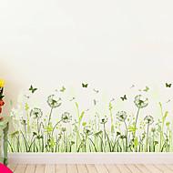 Blomster Træer / Blade Art Deco Baggrund Til hjem Moderne Vægbeklædning , PVC/Vinyl Materiale Lim påkrævet Vægmaleri , Værelse Tapet