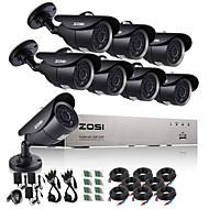 お買い得  AHDキット-zosi®8ch720pのCCTVのDVR 8本1.0 MP CCTVカメラ監視システム