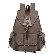 Unisex Bags All Seasons Canvas Backpack for Casual Sports Outdoor Black Gray Brown Green Khaki