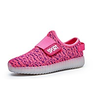 baratos Sapatos de Menino-Para Meninos Sapatos Tule Primavera Conforto / Tênis com LED Tênis Caminhada Velcro / LED para Verde / Azul / Rosa claro / Festas & Noite