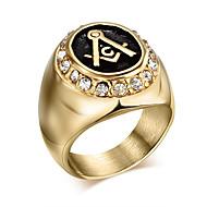 للرجال خاتم البيان - الصلب التيتانيوم مخصص, قديم, بانغك 7 / 8 / 9 ذهبي من أجل هدايا عيد الميلاد / يوميا / فضفاض