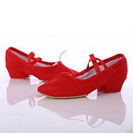 Dame Latin Dansesko Sateng Høye hæler Innendørs Opptreden Tykk hæl Svart Rød Rosa 3,5 cm Kan spesialtilpasses