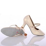 baratos Sapatilhas de Dança-Mulheres Tênis de Dança Sintético Salto Salto Personalizado Personalizável Sapatos de Dança Preto / Prata / Marron / Interior