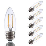 お買い得  LED電球-GMY® 6本 200lm E26 / E27 フィラメントタイプLED電球 B 2 LEDビーズ COB 調光可能 温白色