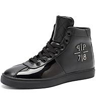 Masculino sapatos Couro Ecológico Outono Inverno Conforto Tênis Cadarço Para Casual Branco Preto Vermelho
